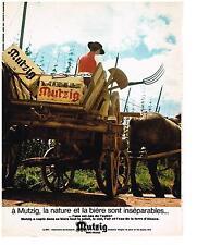 PUBLICITE  1968   MUTZIG   bière