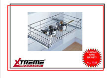 Kitchen Chrome Wire Basket to suit 500mm, Pull Out Storage Bedroom Wardrobe