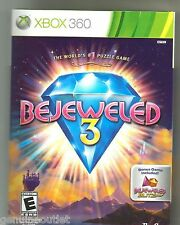 XBOX 360 BEJEWELED 3 for XBOX 360 SEALED NEW
