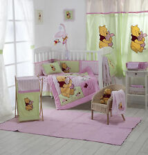 4 PIECE PINK WINNIE THE POOH CRIB BEDDING COT SET RRP $250.00