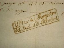 Documento Epoca Napoleonica Acquisto Terreni Timbro Ufficio Registro Rimini 1811