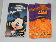 """2012 MICKEY'S NOT SO HALLOWEEN PARTY FLYER & MAP PACKAGE """"NEW"""""""