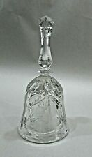 "Vintage Floral Pattern Clear Glass Crystal 6"" Tall Service Call Bell Free S/H"