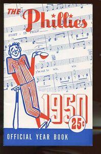 1950 MLB Baseball Philadelphia Phillies Yearbook NRMT Includes Mailing Envelope