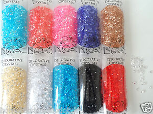 Diamond Acrylic Jewell Crystals 1cm scatter Displays Craft Vases Various Colours