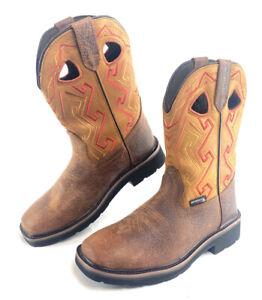 Wolverine Rancher Aztec Work Boots Men's Size 9 M W200112 Tan Bronzer