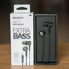 Sony MDR-XB50AP Extra Bass Earbud Headset (Black) - Powerful Sound