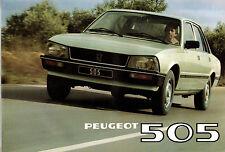 Catalogue publicitaire PEUGEOT 505  gr ti grd sr srd sti 1980