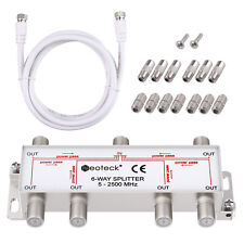 More details for neoteck 6 way splitter 5-2500mhz cable satellite tv aerial coax f connector