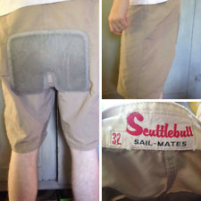 Sail-Mates Mens 32 Scuttlebutt Yachting Sailing Shorts Leather Seat