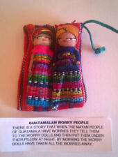 Large 2 Worry Doll Set in Purse