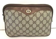 Authentic Vintage GUCCI Cross Body Shoulder Bag Clutch Purse Handbag 2 Way