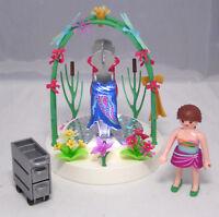 PLAYMOBIL aus 5489 Dekorateurin mit LED Podest Kleider Blumen Frosch Libellen #4