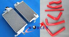 Aluminum Radiator + Hose for HONDA CR250 CR250R CR 250 R 2000 2001 00 01 RED