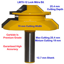 Lock Mitre Glue Joint Large TCT 70mm  12.7mm Shank +Bonus Drill Set