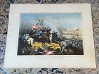 Original Chromolithograph Print Battle Of Antietam Max Rosenthal Phila. 1865