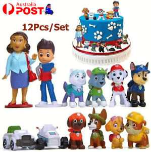 Paw Patrol Mini Action Figurines Toy Theme Party Cake Topper Kids Gift 12Pcs/Set