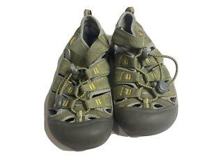Keen Sandals 1y Youth Canvas Hiking Trail Waterproof Green sneakers