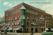 A View Of Commercial College, New Britain, Connecticut CT 1914