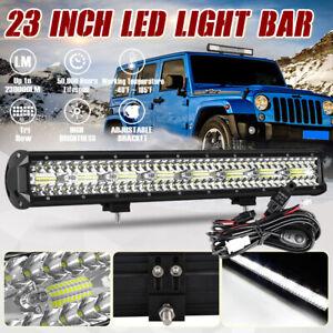 23inch CREE LED Light Bar Spot Flood Driving Lamp Offroad 4WD Truck JEEP SUV ATV