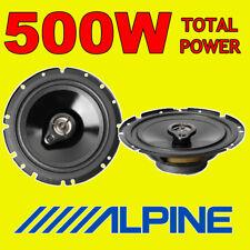 """ALPINE 500W TOTAL POWER 3WAY 16.5cm/6.5"""" SXE/SXV CAR/VAN DOOR SHELF SPEAKERS"""
