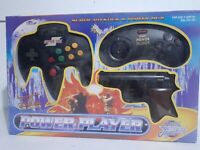 Vintage Power Player Super Joystick & Power Gun TV Game Black Plug & Play NEW