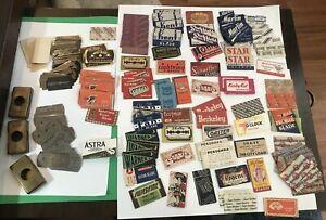 Vintage Razor Blade Lot--Over 160 Razor Blades--Various Makers--3 Blade Banks