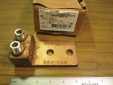 """T&B Copper Two Conductor Terminal Lug Connector 300 - 500 MCM Wire Two Hole 1/2"""""""