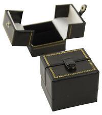 10 Lujo Caja De Anillo De Cuero Doble Puerta tienda de Joyas Caja de presentación de regalo