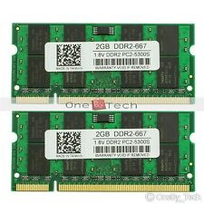 4GB KIT 2x2GB PC2-5300 DDR2-667Mhz 200pin Laptop Memory For Apple iMac Mid 2007