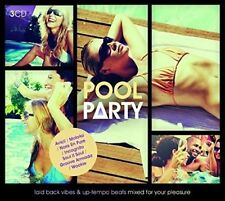 Pool Party ~ NEW SEALED 3CD LAID BACK AND UP - TEMPO SUMMER HITS