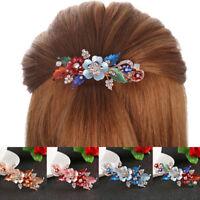 Women  Flower Barrettes  Cute Hairpin  Headwear Accessories  Crystal Hair Clip