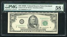 FR. 2111-D* 1950-D $50 *STAR* FRN CLEVELAND, OH PMG ABOUT UNCIRCULATED-58EPQ