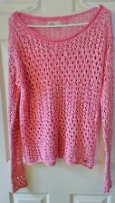 Hollister Open Knit soft pink sweater!  Very comfy and in great shape. Size S Sm