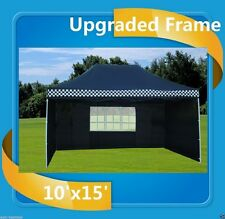 10'x15' Pop Up Canopy Party Tent EZ - Black Checker - F Model Upgraded Frame