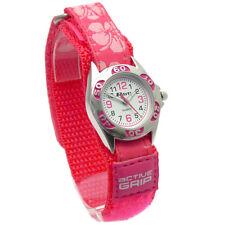 Ravel Kids Watch Hook & Loop Strap Hibiscus Flower Design Pink 1507.19