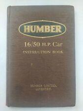 Humber  16/50 HP. Car Instruction Book  1931