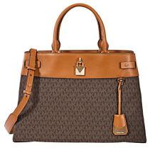 Michael Kors Gramercy большой фирменный логотип печать сумка-коричневый 30H8GG7S3B-200