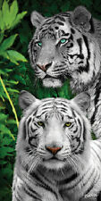 "White Tigers Towel Cats Jungle Wild Nature Beach Pool Souvenir 30""x60"""