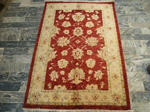New Chobi Zeigler Mahal Vege Dyed Area Rugs Hand Knotted Carpet (4.11 X 3.3)'