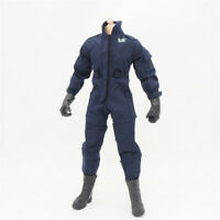 1/6 Scale Uniforms Coveralls Suit Jacket Navy Fit Hot B005 Body