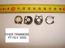 PIHER TRIMMERS 250R 250OHM 250Ω PCB PT15LV 2PC