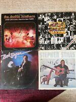 ROCK 4 vinyl LP lot -  Doobie Brothers - The Faces - Bob Seger - Stephen Stills