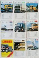 1987 Vintage Trucks of The World 33 Card Vintage Trucks of The World Spanish Set