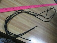 Two Pieces Black Tanned Cow Leather Lace 75 in. X 1/8 in .