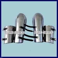 Medieval Leg Guards Pair 16 Gauge Iron Steel Leg Armor Set Greaves Shin Guard K9