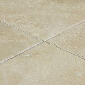 "Denizli Beige Travertine Tile - Brushed and Chiseled - 1 pcs  4""x4"" Sample Order"