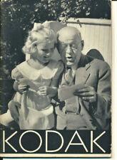 Kodaks and Kodak Supplies 1934-1935