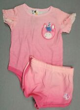 Baby Girl Clothes New Garanimals 0-3 Month 2Pc Pink Unicorn Outfit