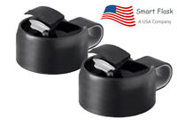 Smart Flask Flip Top Lid, Fits Wide mouth, 18,32,40 oz, Hydro Flask, etc. 2 Pack